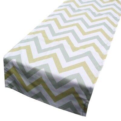 Schöner Leben Tischläufer Chevron Zacken breit creme gelb grau 40x160cm