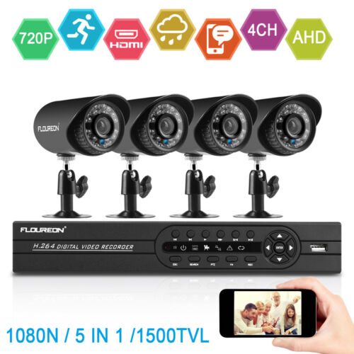 1080P HDMI 8CH / 4CH DVR IR CUT CCTV Security Camera 3000TVL System 2MP 1TB Kit