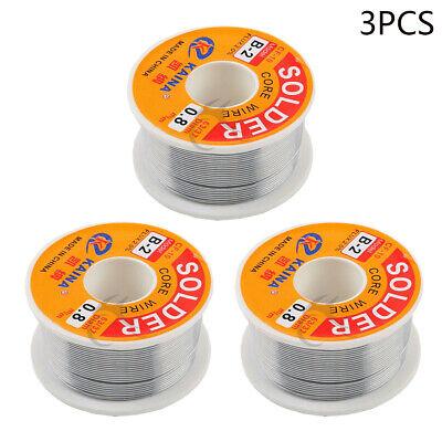 3pcs 6337 Rosin Core Weldring Tin Lead Industrial Solder Wire 0.03 Inch 0.8mm