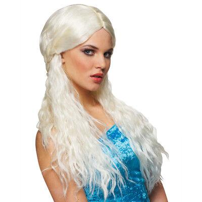 Game Of Thrones Wig Daenerys Targaryen Blonde Womens Khaleesi Costume TV Show](Game Of Thrones Khaleesi Halloween Costumes)