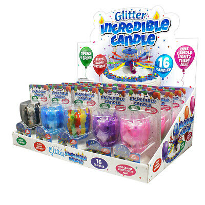 Just For Laughs Singing Happy Birthday Song Glitter Incredible Lotus Candle 3309](Birthday Sings)