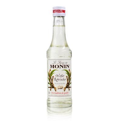 Monin Weißer Rohrzucker Sirup, 250 ml Flasche - für Cocktails, zum Kaffee oder