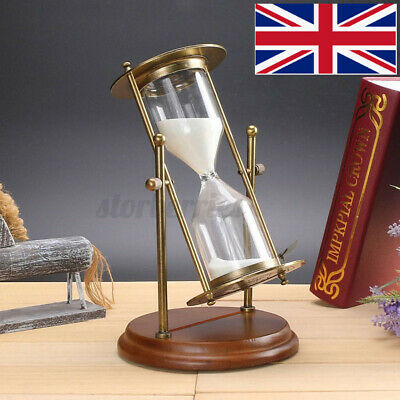 15 Minutes Rolating Sandglass Hourglass Timer Sand Clock Kitchen Timer Kids