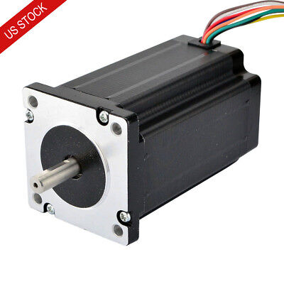 Us Ship Nema 24 Stepper Motor 4nm 3a 8-wire 8mm Dual Shaft Cnc Mill Lathe Laser
