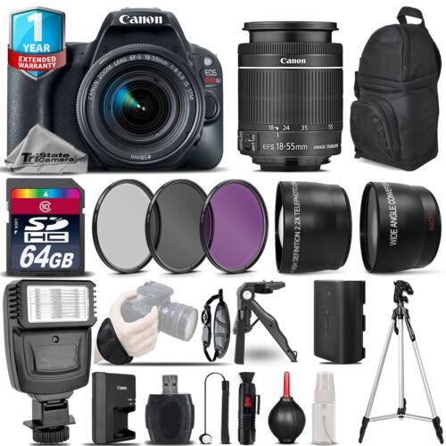 Canon EOS Rebel SL2 DSLR Camera + 18-55mm IS STM + 1yr Warra