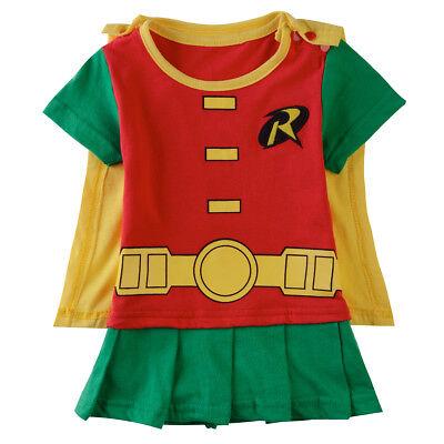 Baby Girl Robin Costume Bodysuit Newborn Playsuit Infant Playsuit Outfit Dresses (Toddler Girl Robin Costume)