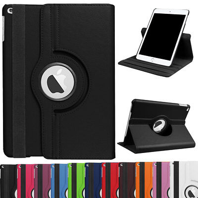 For Apple iPad Mini 1 2 3 4 5  Folio Leather 360 Rotating Stand Smart Case Cover