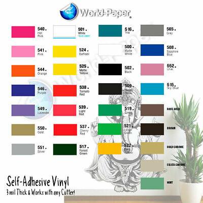 12 Adhesive Vinyl Craft Hobbysign Makercutter 10 Rolls 5 Feet Usa 651 1