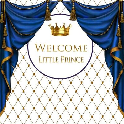 Royal Prince Baby Shower Theme Photography Props Golden Crown Rhombus Background](Prince Theme Decorations)