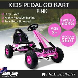 Free Delivery: Kids Pedal Go Kart - Pink Homebush Strathfield Area Preview
