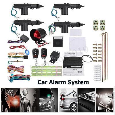 Keyless Car (Car/Auto Security Alarm System Keyless Entry 4 Door Power Lock  Actuator Motor )