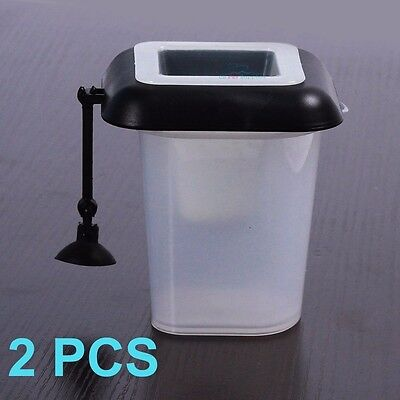 2X 4-in-1 Floating Worm Feeder Aquarium live/Frozen/Dry Fish Food Defrosting Cup