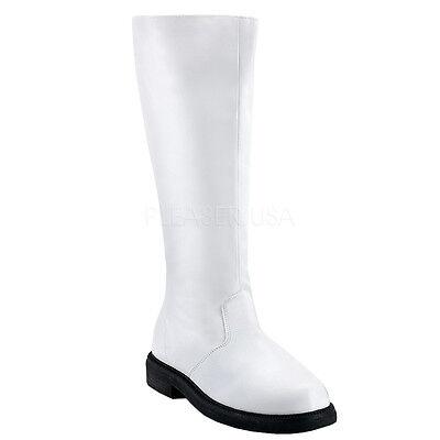 White Star Wars Storm Trooper Knee High Costume Cosplay Mens Boots Funtasma (White Storm Costume)