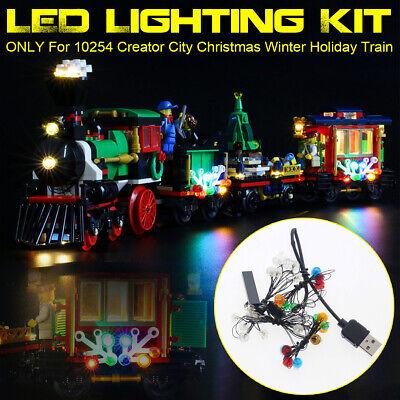 USB LED Lighting Kit For LEGO 10254 Creator City Christmas Winter Holiday Train