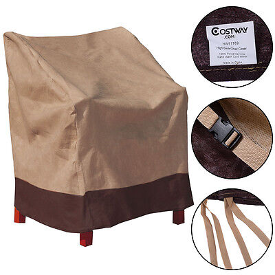 Waterproof High Back Chair Cover Outdoor Patio Garden Furniture Protection