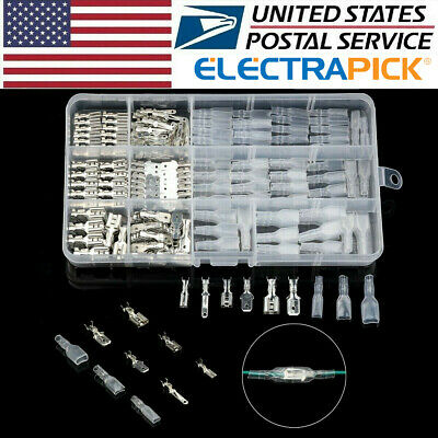 270X Assortment Terminals Kit Electrical Wire Crimp Connectors Male Female Spade