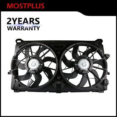 Radiator Condenser Cooling Fan Assembly for GMC Sierra 1500 2500 HD Chevy Tahoe