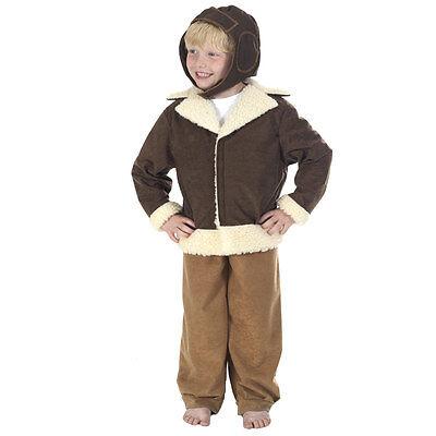 Children's Boys World War Two 2 WW2 Fighter Pilot Fancy Dress Up Costume