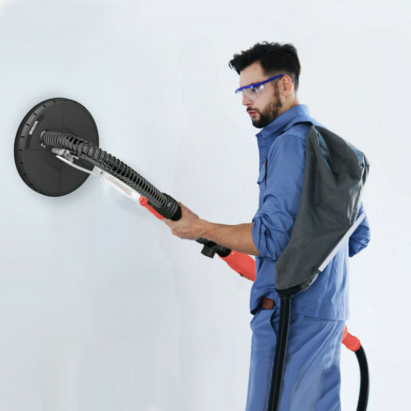 Commercial Electric Drywall Sander Adjustable Variable Speed Sanding Pad 750W