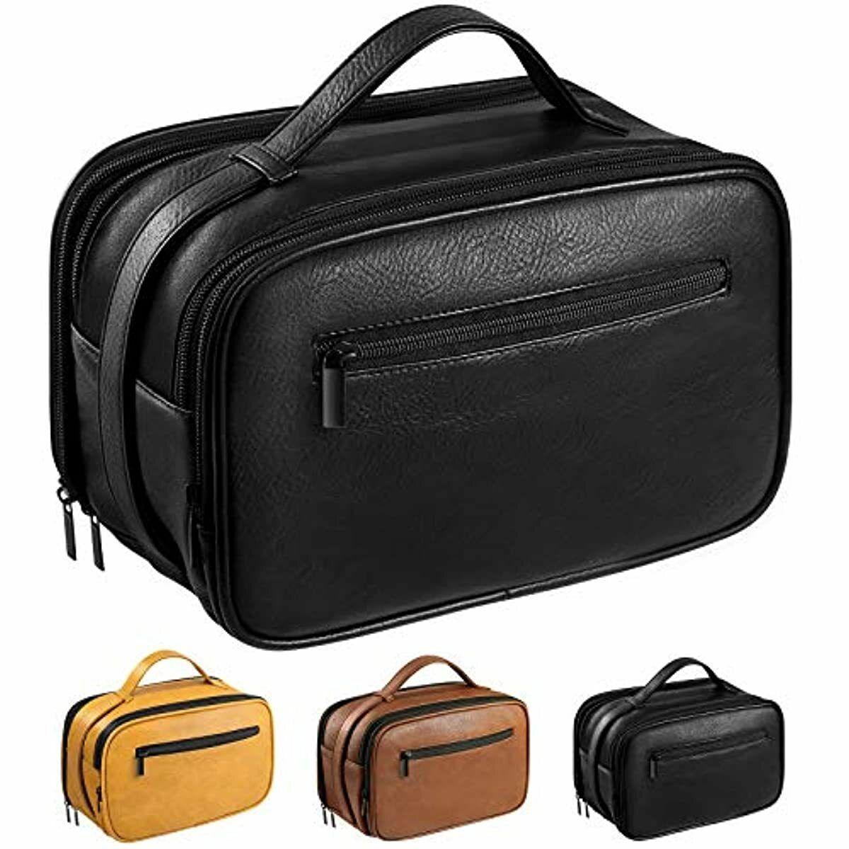 Mens Toiletry Bag, Travel Toiletry Organizer Dopp Kit Waterp