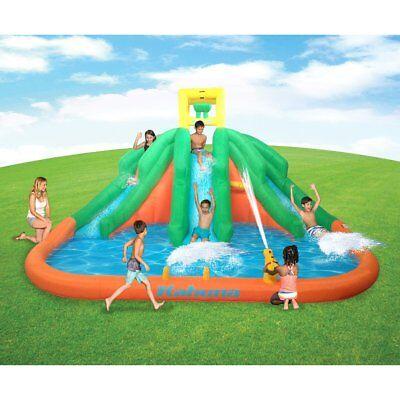 Kahuna Triple Monster Big Inflatable Backyard Kiddie Slide Water Park w/ Slide
