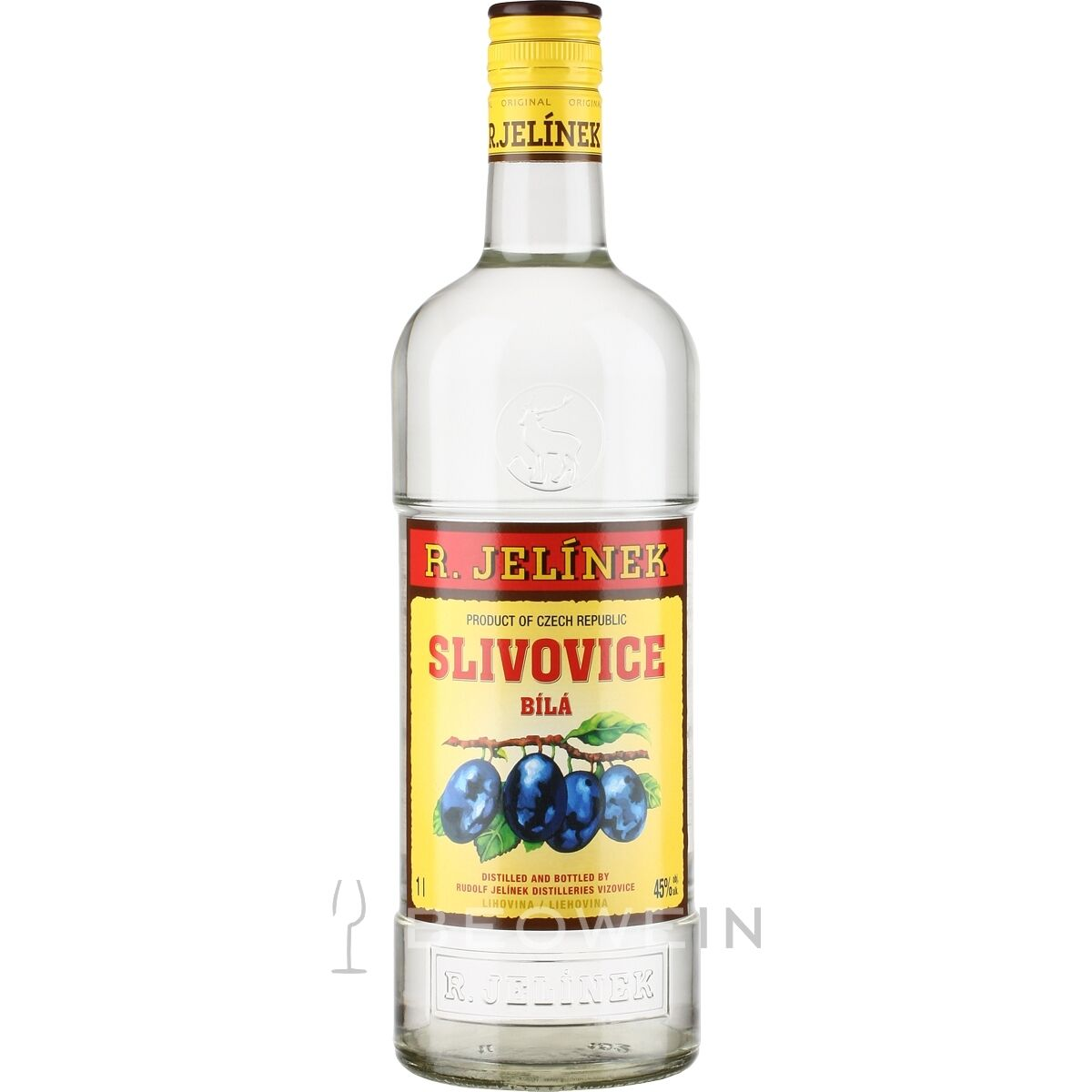 Jelinek Slivovitz 1,0 l Tschechischer Pflaumenbrand 45%vol Obstler Zwetschge