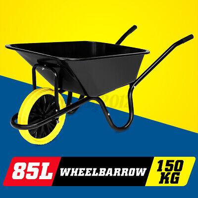 85L Cart Wheelbarrow Garden Wheel Barrow Extra Large 150KG Puncture Proof Tyre
