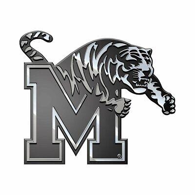 Memphis Tigers Emblem Sticker Decal Car Truck Plastic Chrome Color 3-D  Tigers Chrome Auto Emblem