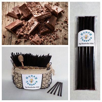 Honeystix Straws - 5 Pack CHOCOLATE HONEY TEASERS Natural Honey Snack Sticks Honeystix Straws