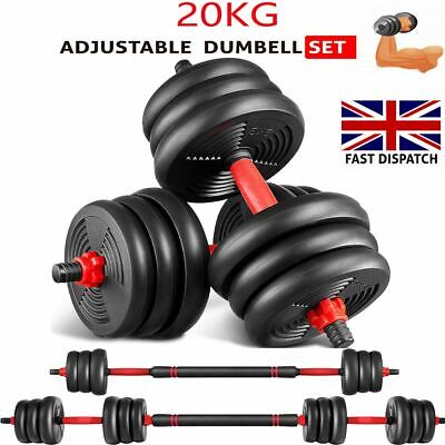 20kg Dumbbells Set Pair of Gym Free Weight Barbell/Dumbell Body Building Weights