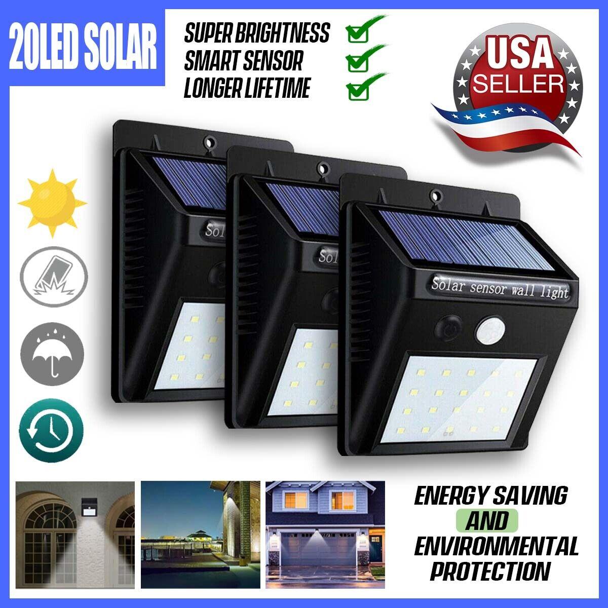 20 led solar power pir motion sensor