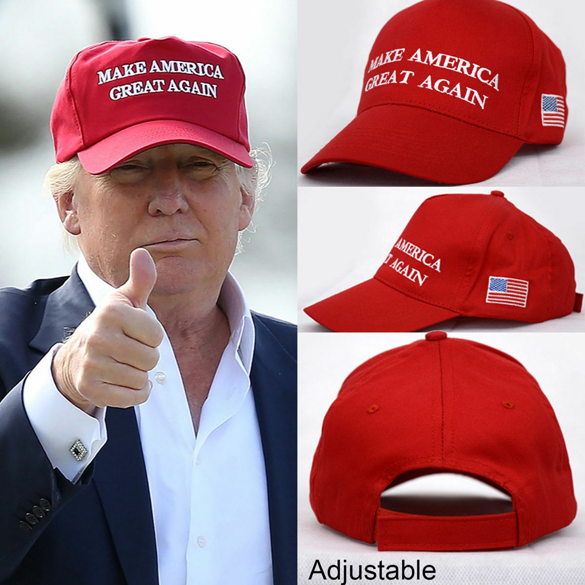 Make America Great Again Hat Donald Trump 2017 Republican Adjustable Red Cap