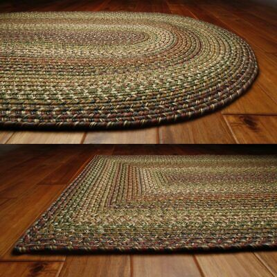 Rainforest Ultra Durable Washable Braided Area Rugs Oval Rec