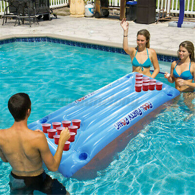 Water Inflatable Table Floating Row 24 Cups Holder Beer Pong