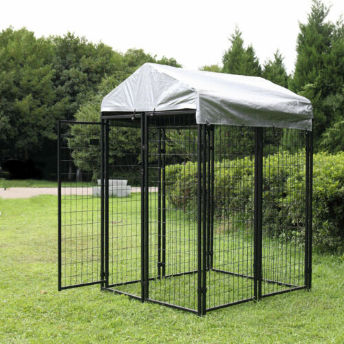 Extra Large Outdoor Dog Kennel Cage Dog Kennel House Heavy Duty Playpen w/ Cover