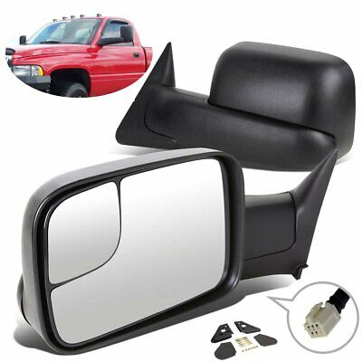 Power Heated For 1998-2001 Dodge Ram 1500 2500 3500 Manual Flip Tow Side Mirrors