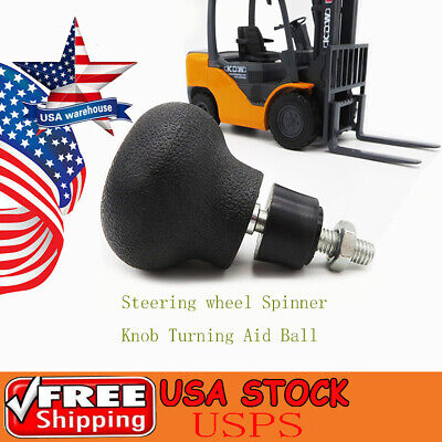 1x Steering Wheel Spinner Knob Turning Aid Ball Tractor Forklift 8mm Screw Us