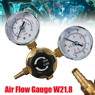 Argon Co2 Regulators Double Gauge Gas Bottle Mig Tig Welding Flow Meter W21.8