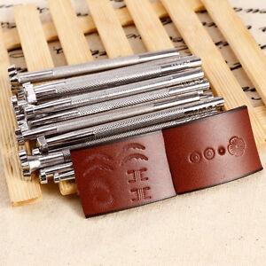 20tlg Edelstahl Punzierstempel Set Leder Punzieren Punziereisen werkzeug