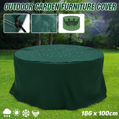 6.1x3.28ft Outdoor Garden Furniture Cover Round Patio Table Chair Waterproof  Round Furniture Cover