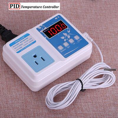 110V 220V PID Digital F/C Temperature Controller Thermostat Control US Outlet