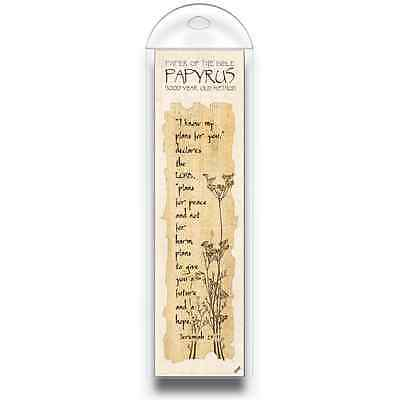 Authentic Papyrus Bookmark w Bible Verse-I know my plans for you, says… Jer 29:1 Bible Verse Book