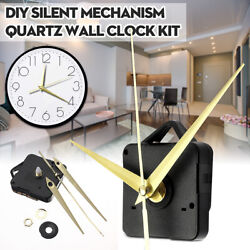 DIY Gold Hands Wall Quartz Clock Silent Mechanism Movement Repair Parts   USA