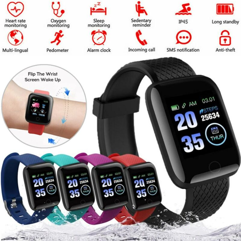 2021 Touch Smart Watch Women Men Heart Rate For iPhone Android IOS Waterproof US