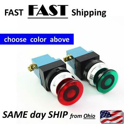 Industrial Controlls Style Momentary Push Button Start Or Stop Switch Red Green