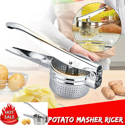 Stainless Steel Potato Masher Ricer Puree Fruit Vegetable Juicer Press Maker