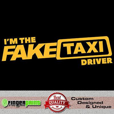 Fake Taxi Faketaxi Sticker Vinyl Decal Bumper Window Funny Dub Jdm Fun Die Cut