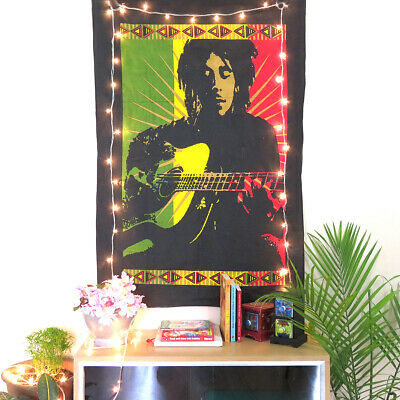 Wall Poster Tapestry Bob Marley Printed Wall Hanging Home Decor Cotton covid 19 (Bob Marley Tapestries coronavirus)
