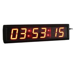 2.3 Digital High LED Countdown Clock In Hours Minutes Seconds W/Remote&Adapter