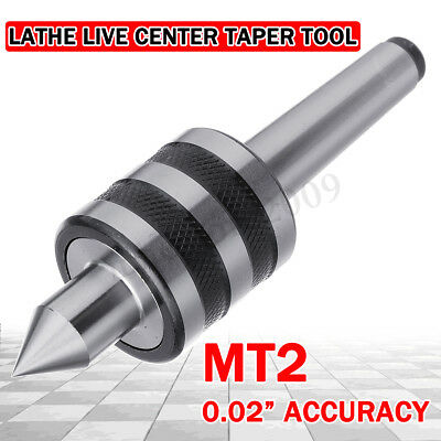 MT2 Rotary Live Center Shaft Morse Taper Heavy Duty Bearing Lathe Metal Turning
